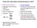 how do calculate instantaneous rate