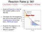 reaction rates p 561