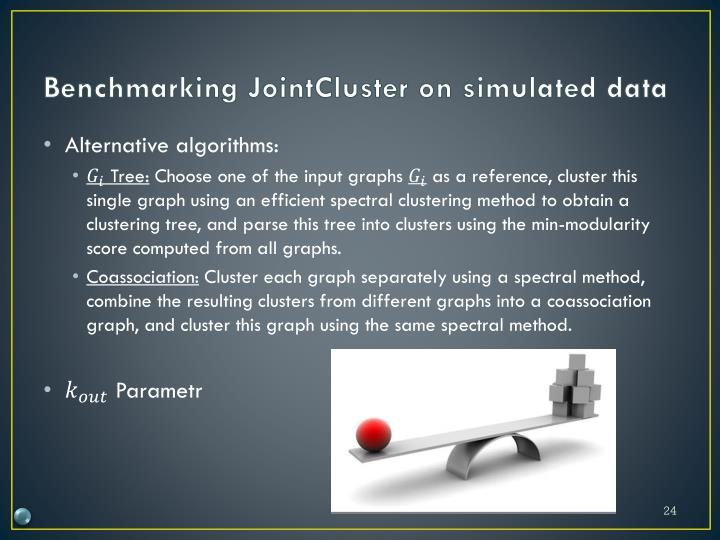 Benchmarking JointCluster on simulated data
