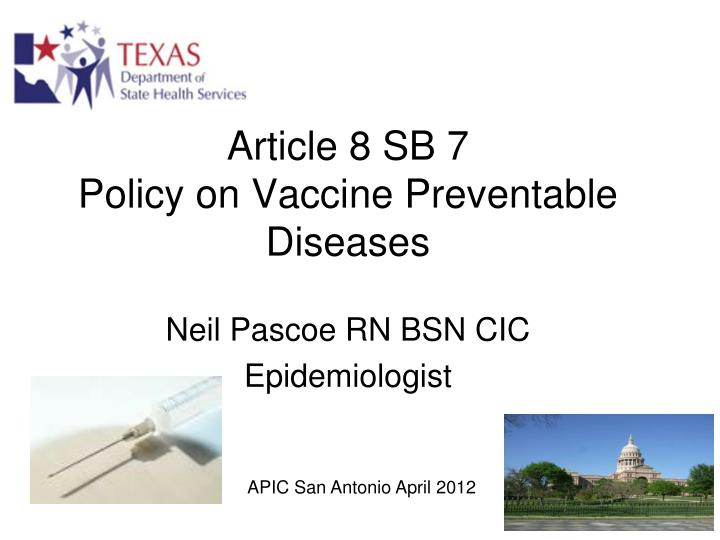 article 8 sb 7 policy on vaccine preventable diseases n.
