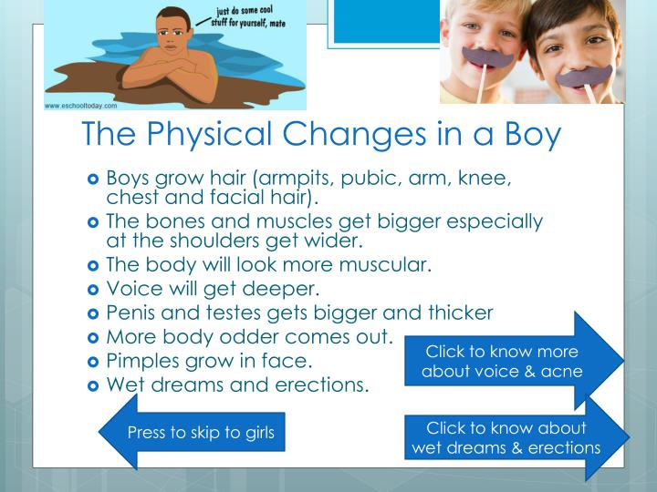 The Physical Changes in a Boy