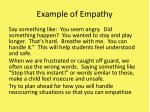 example of empathy