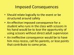 imposed consequences