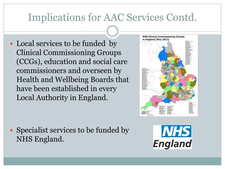 Implications for AAC Services Contd.