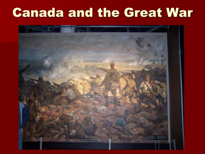 canada and the great war n.