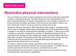 restrictive physical interventions