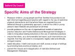 specific aims of the strategy