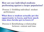 how are our individual students performing against a larger population