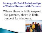 strategy 7 build relationships of mutual respect with parents
