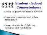 student school connectedness