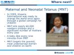 maternal and neonatal tetanus mnt