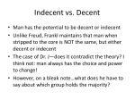 indecent vs decent