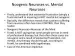 noogenic neuroses vs mental neuroses