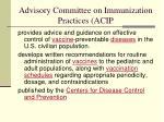 advisory committee on immunization practices acip