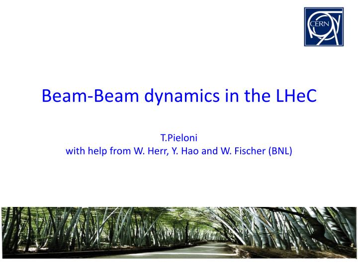 beam beam dynamics in the lhec t pieloni with help from w herr y hao and w fischer bnl n.