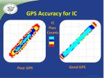 gps accuracy for ic