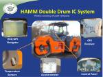 hamm double drum ic system
