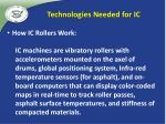 technologies needed for ic2