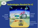 technologies needed for ic4