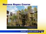 nenana ropes course