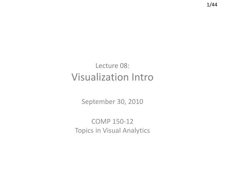 lecture 08 visualization intro n.
