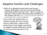 adoptive families with challenges