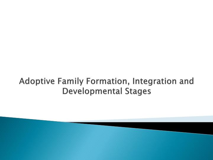 adoptive family formation integration and developmental stages n.
