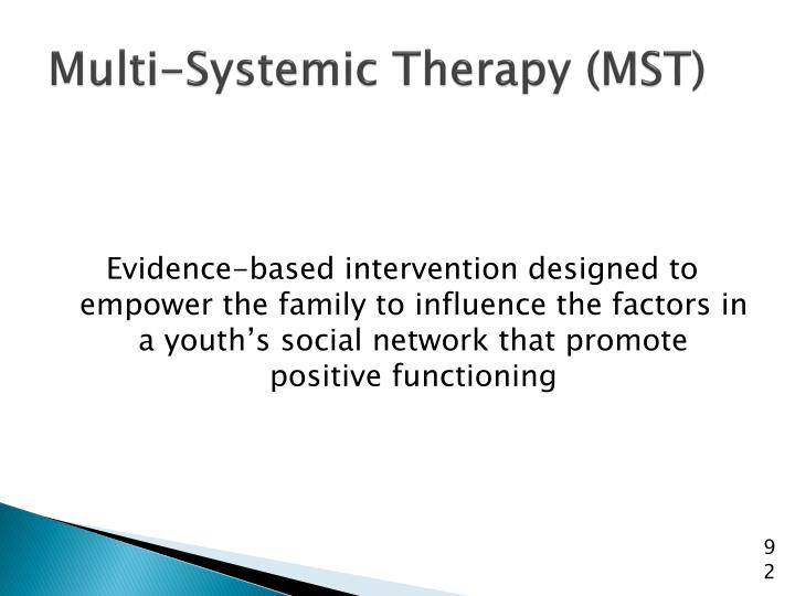 Multi-Systemic Therapy (MST)