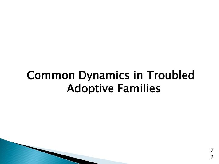 Common Dynamics in Troubled Adoptive Families