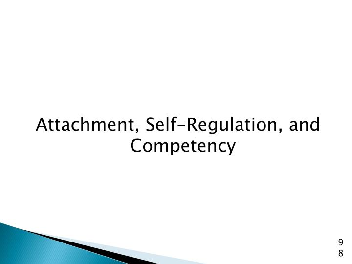 Attachment, Self-Regulation, and Competency