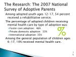 the research the 2007 national survey of adoptive parents1