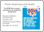 public awareness and health