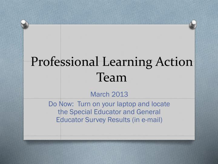professional learning action team n.