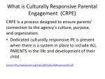 what is culturally responsive parental engagement crpe