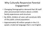 why culturally responsive parental engagement