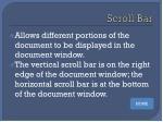 scroll bar