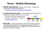 terms mobile marketing1