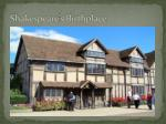 shakespeare s birthplace