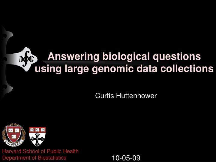 answering biological questions using large genomic data collections n.