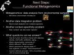 next steps functional metagenomics