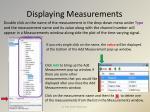 displaying measurements