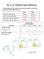 ex 1 2 hand calculations