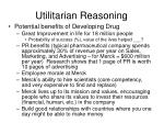 utilitarian reasoning