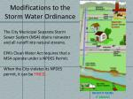 modifications to the storm water ordinance