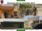 research since 4 october 2012