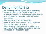 daily monitoring