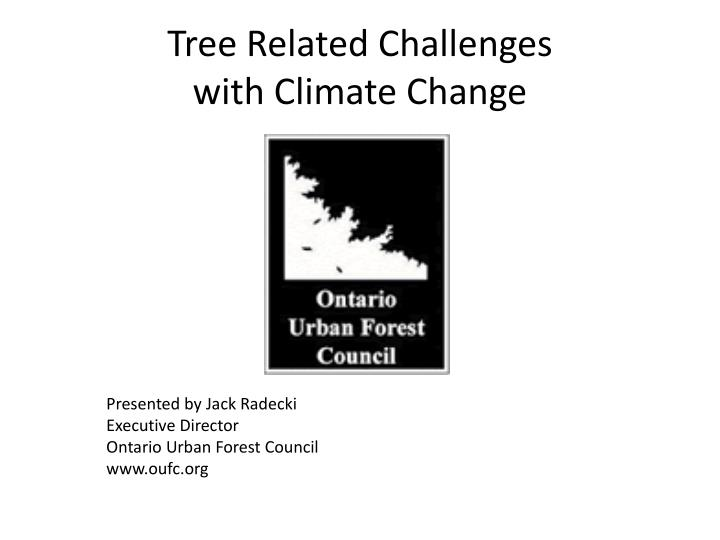 tree related challenges with climate change n.