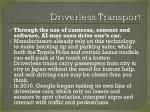 driverless transport