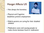 hunger affects us