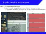 stavelet electrical performances